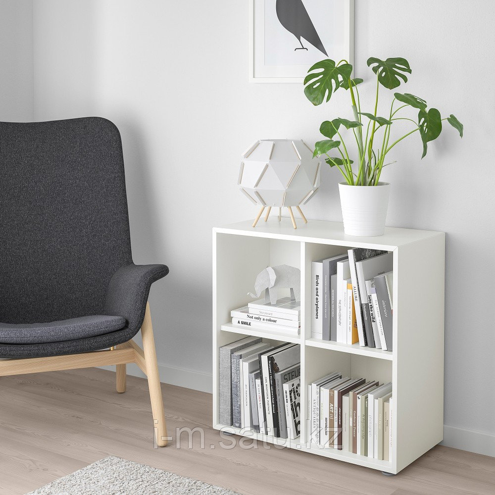 ЭКЕТ Комбинация шкафов с ножками, белый, 70x35x72 см