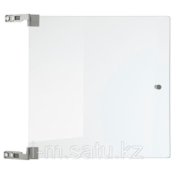 ЭКЕТ Стеклянная дверь, прозрачное стекло, 32x32 см
