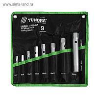 Набор ключей торцевых трубчатых в сумке TUNDRA, оцинкованные, 6 - 22 мм, вороток, 9 предм.