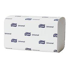 Полотенца бумажные Tork Universal, 250 шт, 1-слойные, 23*23 см, ZZ-сложение, белые