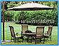 Садовый зонт для кафе,ресторанов и отдыха 3*3 м, фото 6
