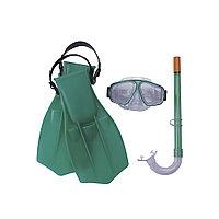 Набор для плавания Aviator Style 7+, BESTWAY, 25009, Пластик, Маска, Трубка, Ласты (р-р 38-41), Цвет в ассорти