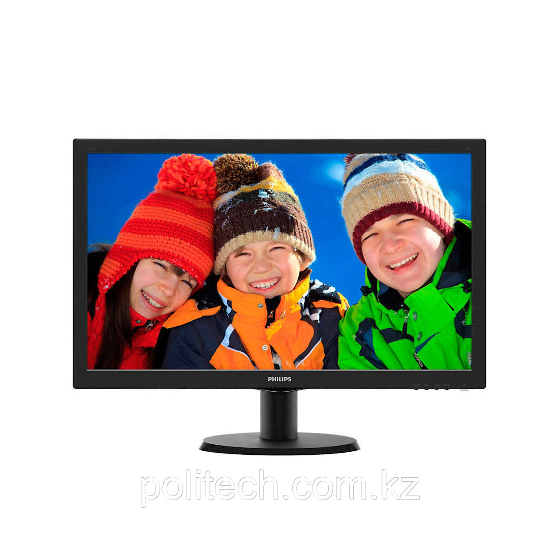 "Монитор 23,6"" PHILIPS 243V5LHSB/01 Чёрный"