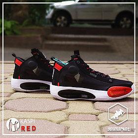 """Баскетбольные кроссовки Air Jordan 34 (XXXIV) """"Black\Red""""  (40-46)"""