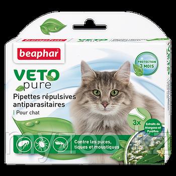 Биокапли VETO pure от паразитов для кошек