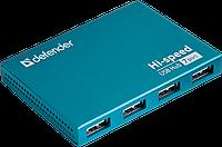 7-портовый мини-разветвитель USB 2.0 Defender Septima Slim (Blue), фото 1