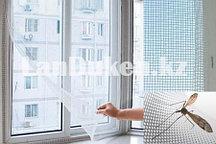 Москитная сетка для окон на липучках (белая)