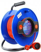 Силовой удлинитель на катушке Power Cube PC-B1-K-40 красно-синий