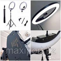 Профессиональная лампа кольцевая для фотоаппарата и смартфона M-45 (49 см) со штативом, фото 3