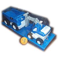 Инерционные машинки,  грузовые машинки, самосвал и экскаватор, пластмассовые, 2 в 1