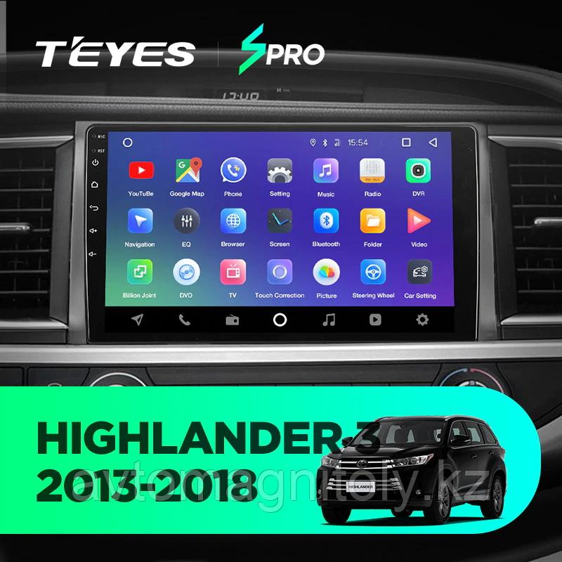 Магнитола Teyes SPRO для Toyota Highlander U50 2014-2019
