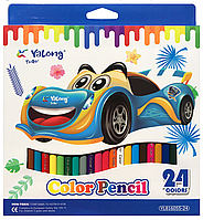 Карандаши цветные YALONG (24шт)