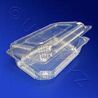 Kazakhstan Контейнер пластиковый 1200мл PET прозрачный с нераздельной крышкой 18,9х11,7х5,6см 300 шт/кор ПР-К-21 М ПЭТ А