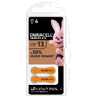 Батарейки для слуховых аппаратов Duracell Hearing Aid 13