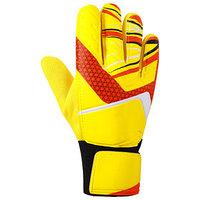 Перчатки вратарские, размер 9, цвет жёлтый