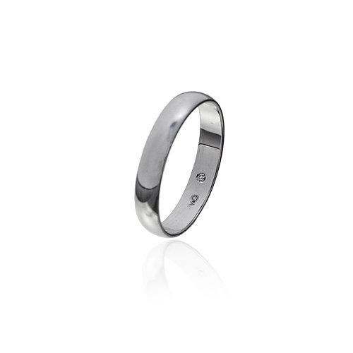 Серебряное обручальное кольцо с бриллиантом внутри. Вставка: 1 бриллиант- 0,008 Карат, вес: 2,3 гр,