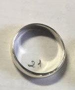 Серебряное обручальное кольцо. Вес: 3,7 гр, размер: 22, ширина: 4,5 мм, покрытие родий