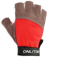 Перчатки спортивные размер L, цвет красный