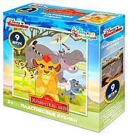 Пластмассовые кубики «Хранитель Лев. Король Лев» Disney (9 шт), фото 1