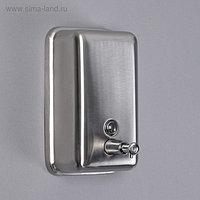 Диспенсер для антисептика/жидкого мыла «Практик», 1000 мл, нержавеющая сталь