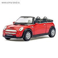 Машина металлическая Mini Cooper S Convertible, 1:28, открываются двери, инерция, цвет красный