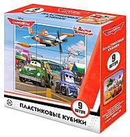 Пластмассовые кубики «Самолеты» Disney (9 шт), фото 1