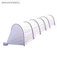 Парник прошитый «Весна», длина 5 м, 6 дуг из металла, дуга L = 4 м, d = 10 мм, укрывной материал 60 г/м²