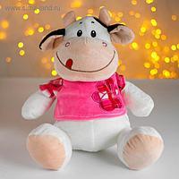 Мягкая игрушка «Коровка в розовом»