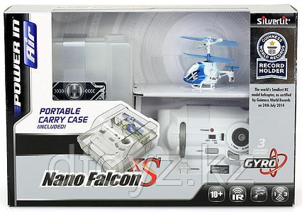 Вертолет Нано Фалкон Silverlit XS из книги рекордов Гиннесса