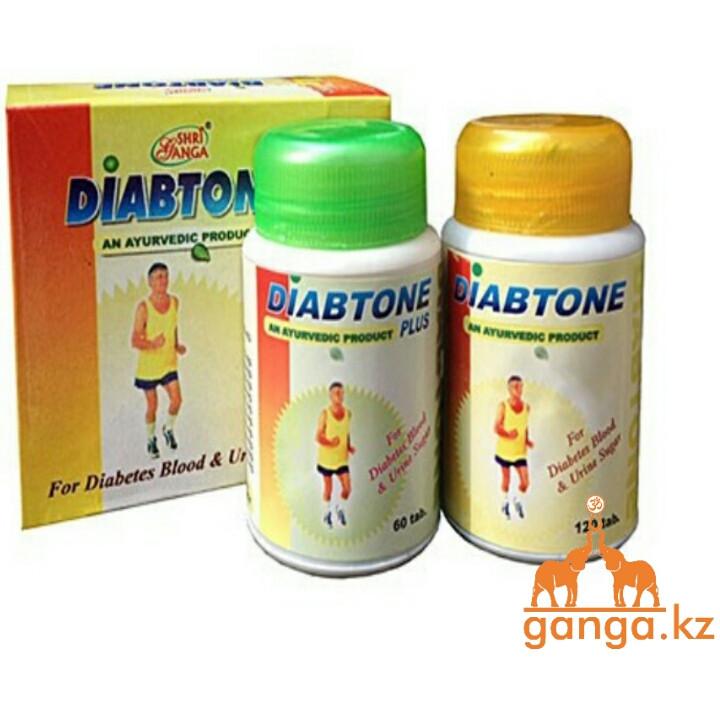 Диабтон и Диабтон Плюс от Сахарного Диабета (Diabtone SHRI GANGA), 120 таб + 60 таб