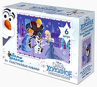 Пластмассовые кубики «Олаф и холодное приключение» Disney (6 шт), фото 1