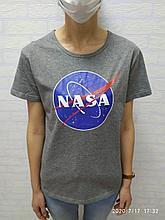 Футболка NASA серая