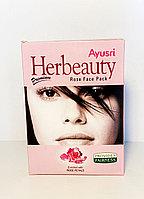Herbeauty Rose Face Pack, маска с лепестками роз 100 гр против старения, Sahul