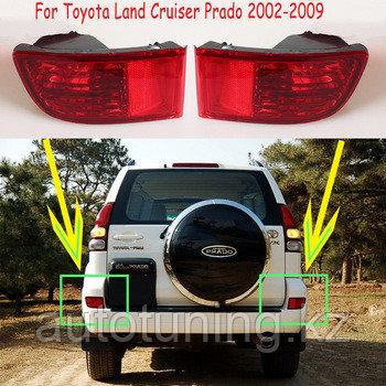 Фонари (катафоты, отражатели) в задний бампер на Toyota Land Cruiser Prado 120 2002-2009