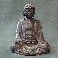 Будда с эмалью. Тибет(?), конец ХIХ- начало ХХ века