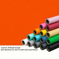 Фон бумажный Superior 39 Bright Orange 2,72x11м цвет ярко-оранжевый