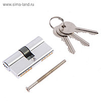 Цилиндровый механизм, алюминиевый ЦМ 60(30/30)-3K PB, английский ключ, 33*17*60 мм, цвет хро   46471
