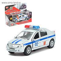 Машина металлическая «Renault Logan. Полиция», масштаб 1:43 инерционная, световые и звуковые эффекты