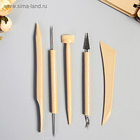 Инструменты для моделирования и придания формы набор 5 шт пластик 21,5х7,5х0,8 см
