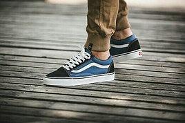 Кеды V черно-синие