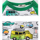 Кофта детская, с машинками, цвет зеленый, фото 2