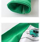 Кофта детская, с машинками, цвет зеленый, фото 3
