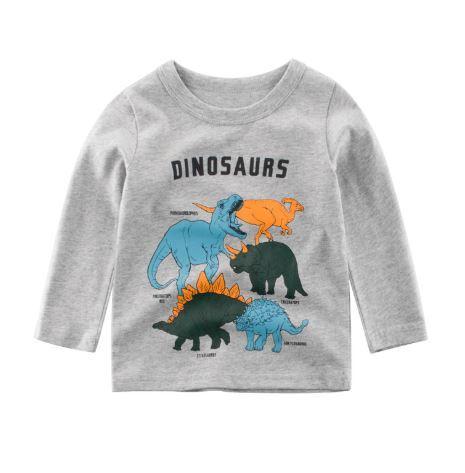 Кофта детская, с динозаврами, цвет серый