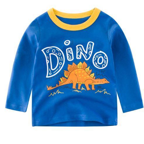 Кофта детская, с динозавром, цвет синий