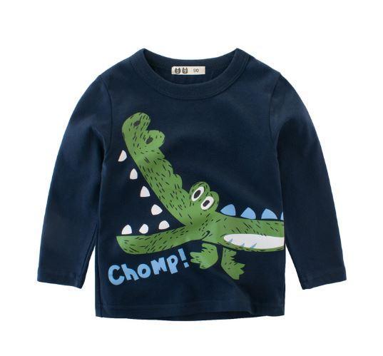 Кофта детская, с крокодилом темно синяя