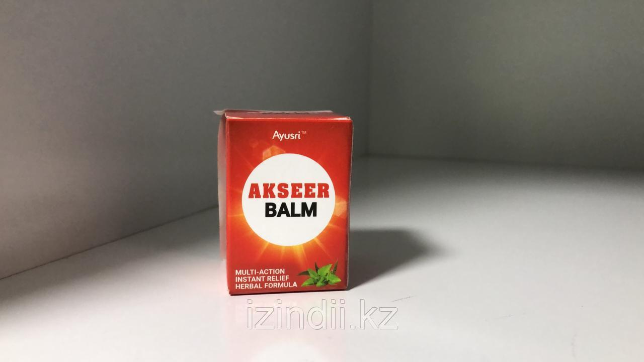 Аксеер Бальзам, Akseer Balm, 9 мл, обезболивающий бальзам, Ayusri