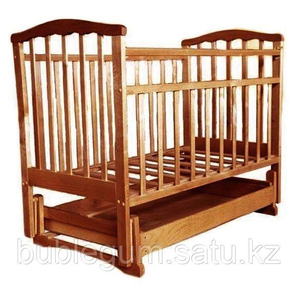 АГАТ Кровать детская ЗОЛУШКА-4 (попер маятник/откр ящик) Орех
