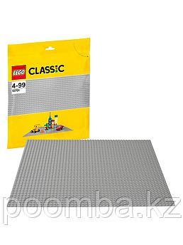 Конструктор LEGO - ЛЕГО Classic Классик Строительная пластина серого цвета