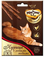 Лакомство Мнямс Деликатес лакомые палочки для кошек с курицей и лесными ягодами