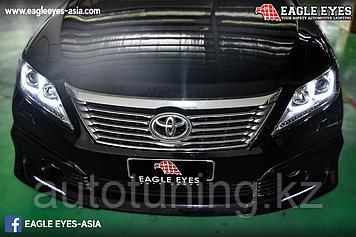 Альтернативная оптика U-style на Toyota Camry 50 2011-2014 г. Chome dsn